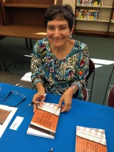 At my book signing last Saturday at the Huntington Park Library.